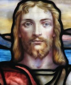 Christ photo by David Hinchen, Lamb Window, First Presbyterian Church of Albany