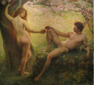 Adam_et_Eve Gustave_Courtois